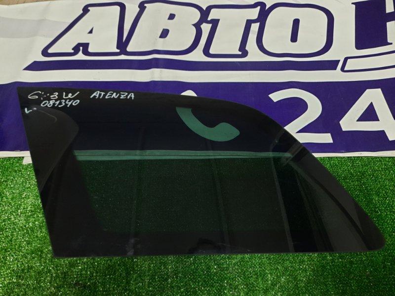 Стекло собачника Mazda Atenza Sport GY3W L3-VE заднее левое ЗАДНЕЕ ЛЕВОЕ. ТОНИРОВАННОЕ.