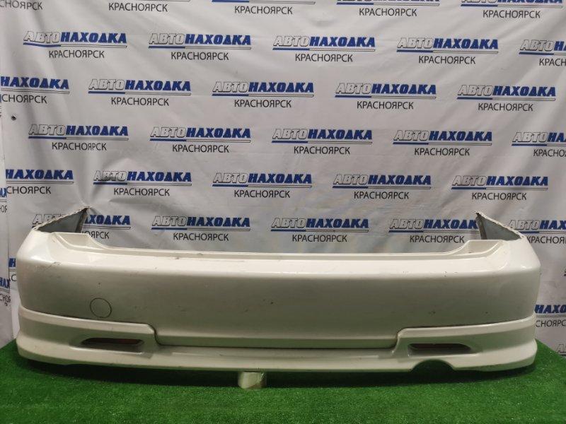 Бампер Honda Stream RN1 D17A 2003 задний Задний, с губой, рестайлинг. Пошоркан