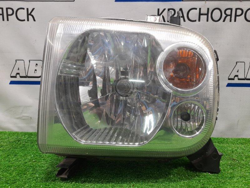 Фара Suzuki Alto Lapin HE21S K6A 2002 передняя левая LEO1G685 левая, галоген, подломано верхнее