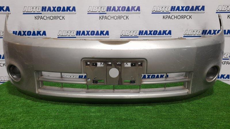 Бампер Nissan Lafesta B30 MR20DE 2004 передний Передний, дорестайлинг, с заглушками, пошоркан,