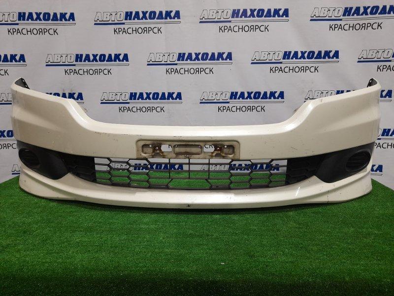 Бампер Honda Stream RN8 R20A 2006 передний Передний, дорестайлинг, с заглушками. Есть потертости
