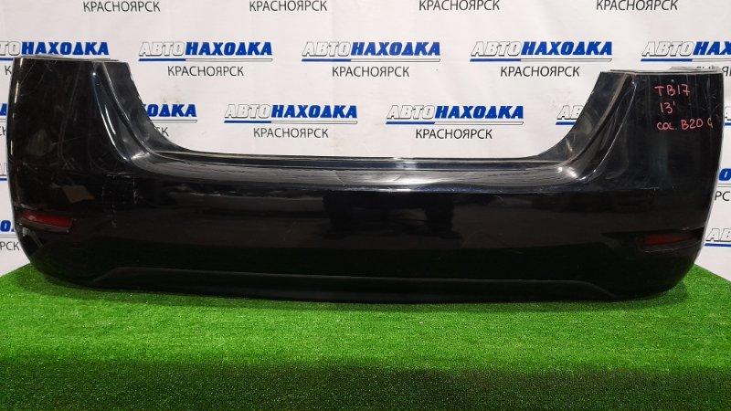 Бампер Nissan Sylphy TB17 MRA8DE 2012 задний задний, с катафотами, цвет B20 G. Пошоркан до пластика,