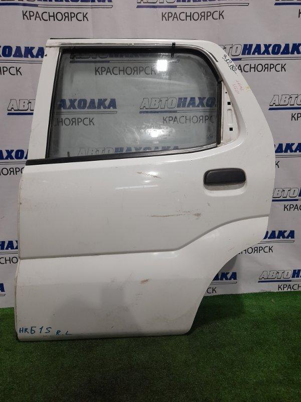 Дверь Suzuki Swift HT51S M13A 2000 задняя левая Задняя левая, без пластиковой накладки, кнопки