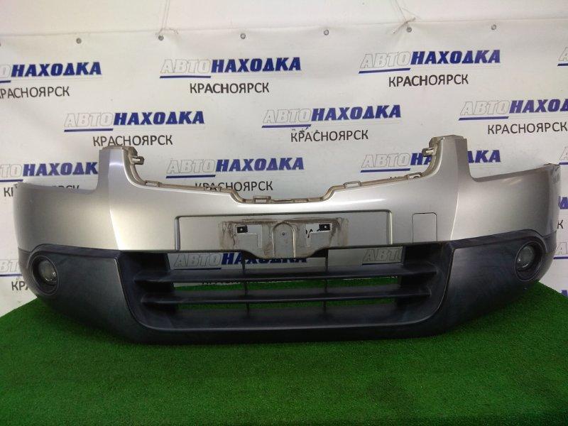 Бампер Nissan Qashqai KJ10 MR20DE 2006 передний передний, 1 модель, серый (KY0), туманки (029065),