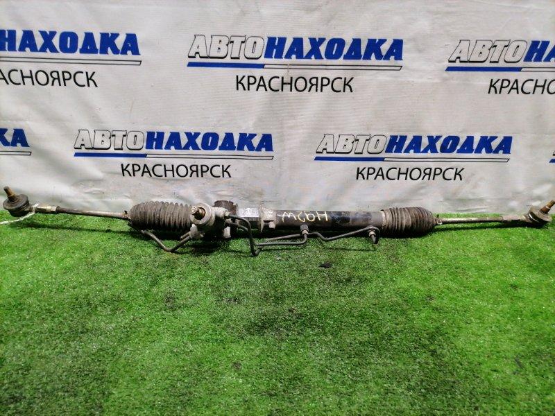 Рейка рулевая Nissan Otti H92W 3G83 2006 в сборе с тягами и наконечниками, гидравлическая