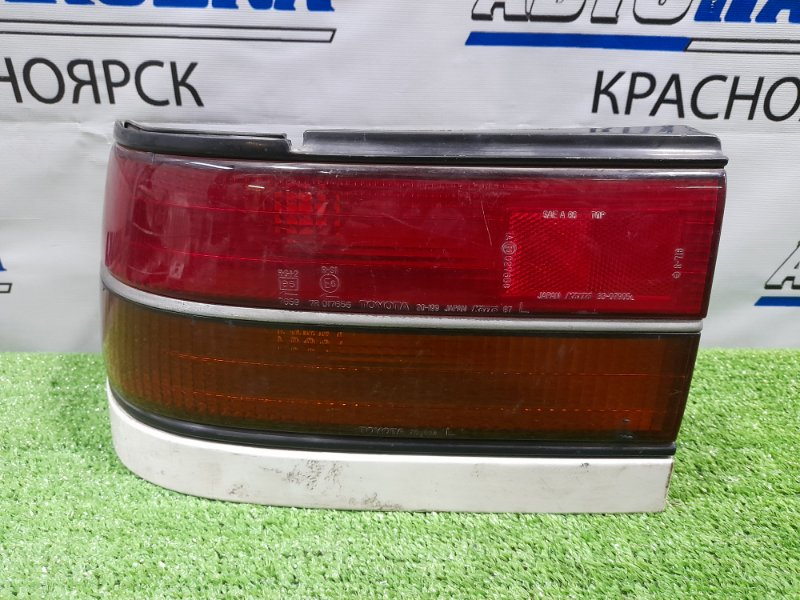 Фонарь задний Toyota Corona ST170 4S-FI 1987 задний левый 20-199 Левый, 20-199, с белой планкой. /