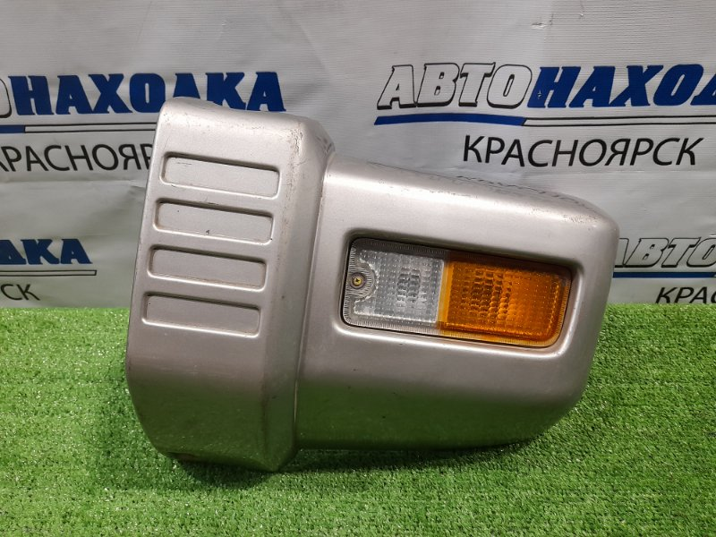 Бампер Mitsubishi Pajero Mini H56A 4A30 1994 передний левый 3382 левый клык бампера, с повторителем (3382),