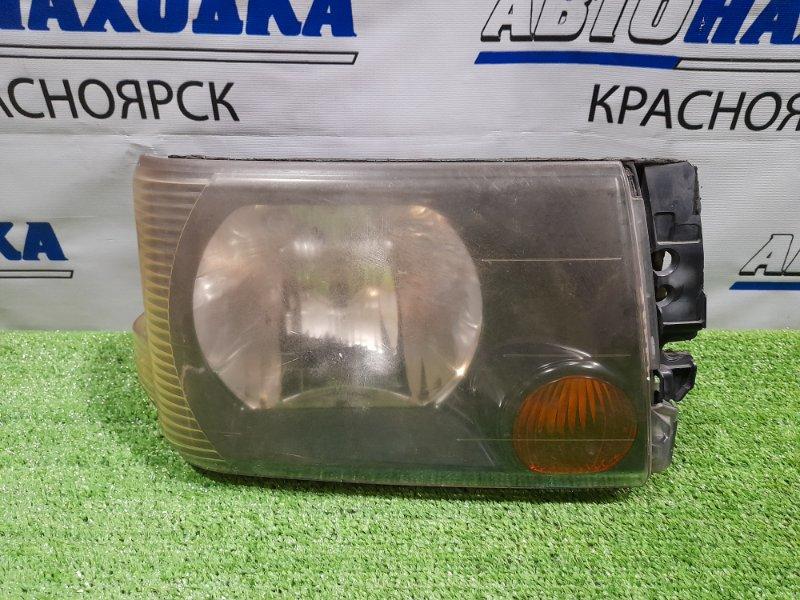 Фара Nissan Clipper U71V 3G83 2003 передняя правая P1711 Правая, галоген, дорестайлинг, тёмный фон, P1711.