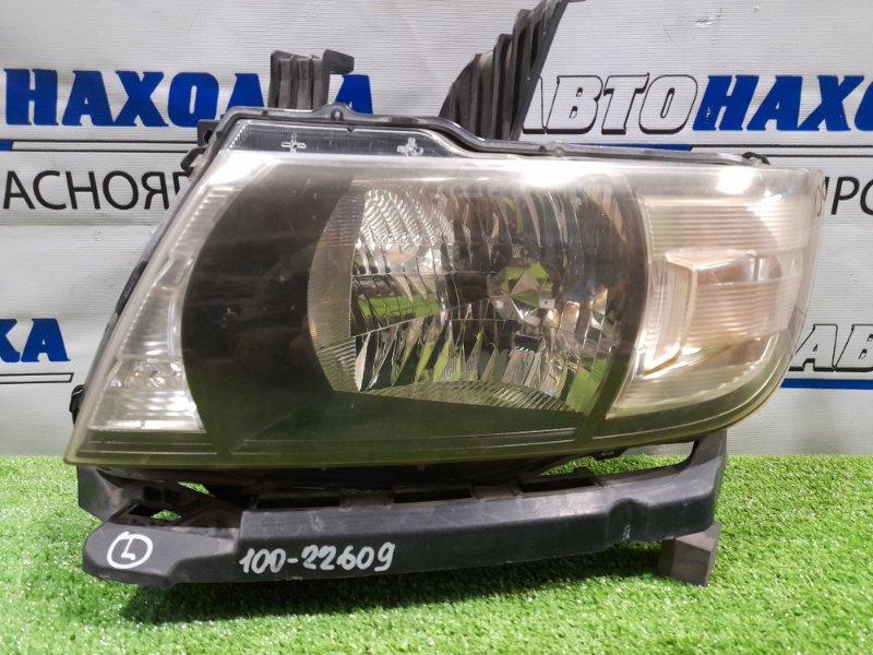 Фара Honda Mobilio Spike GK1 L15A 2005 передняя левая 100-22609 левая, галоген, с корректором, с планкой,