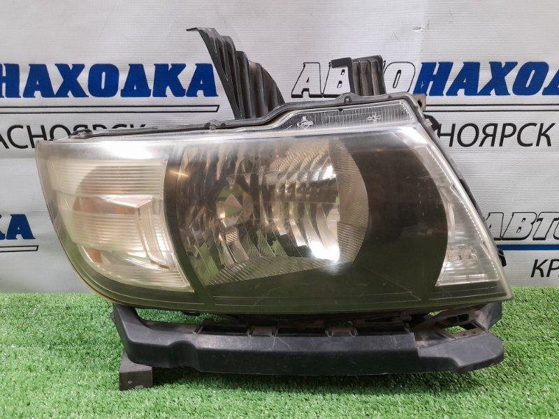 Фара Honda Mobilio Spike GK1 L15A 2005 передняя правая 100-22609 правая, галоген, с корректором, с планкой,