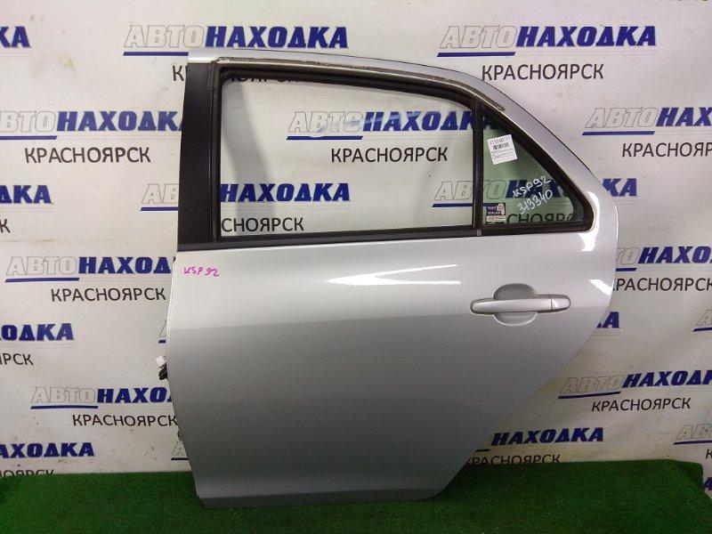 Дверь Toyota Belta KSP92 1KR-FE 2005 задняя левая ХТС, задняя левая, в сборе, серая (1E7), под