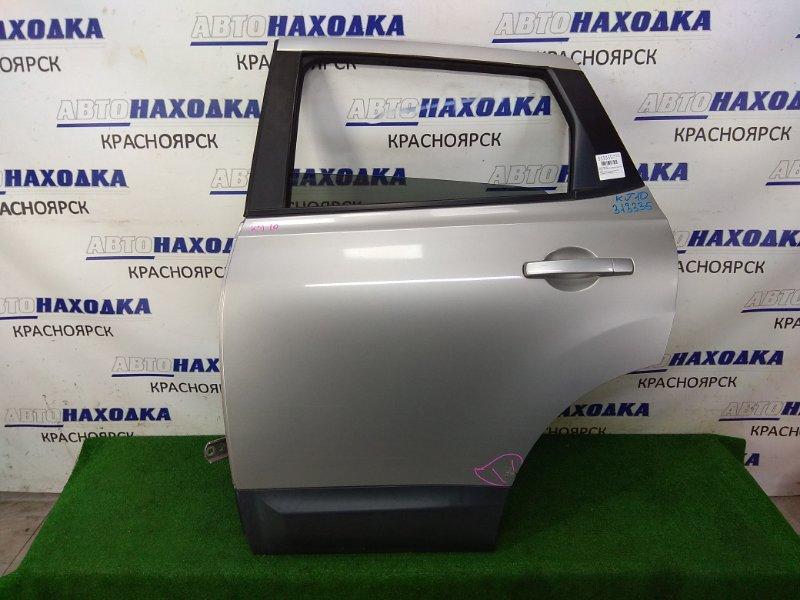 Дверь Nissan Qashqai KJ10 MR20DE 2006 задняя левая задняя левая, в сборе, серая (KY0), потертость с