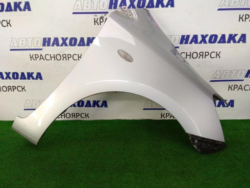 Крыло Toyota Belta KSP92 1KR-FE 2005 переднее правое в целом ХТС, переднее правое, 1 модель, серое (1E7),