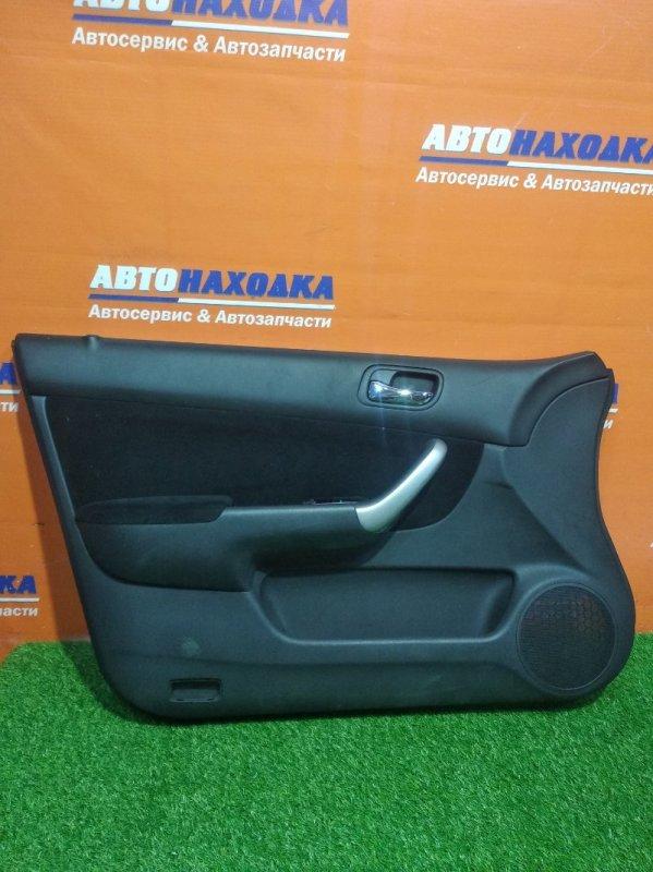 Обшивка двери Honda Accord CL7 K20A 2002 передняя левая без кнопки стеклоподьемника,небольшая