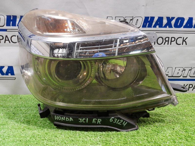 Фара Honda Life JC1 P07A 2010 передняя правая W0001 правая, ксенон в сборе, с корректором, с планкой,