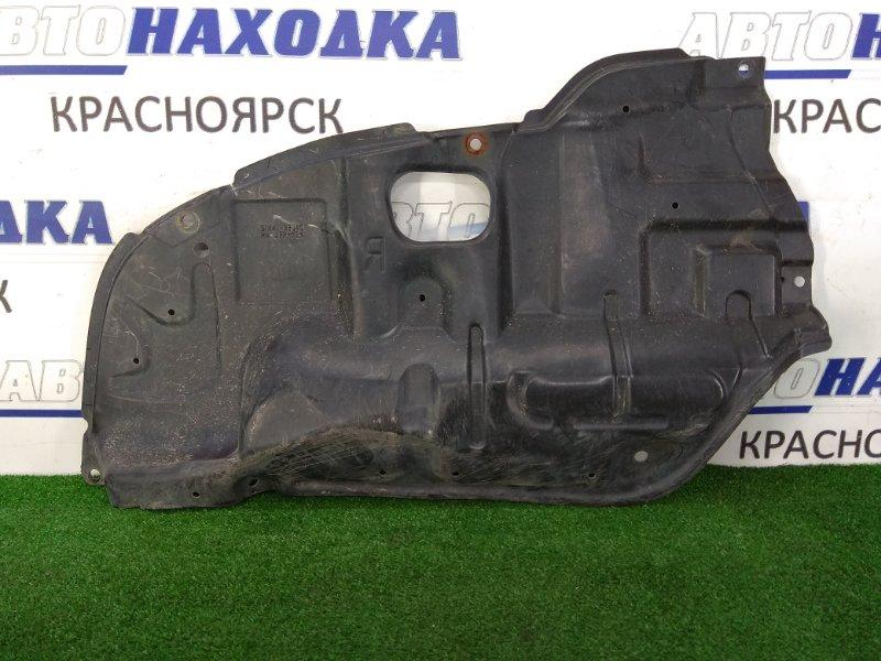 Защита двс Toyota Camry ACV30 2AZ-FE 2001 передняя правая правая нижняя, небольшой надрыв 1 см