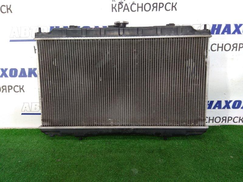 Радиатор двигателя Nissan Primera QP12 QG18DE 2001 в сборе, A/T, с диффузором и вентиляторами,