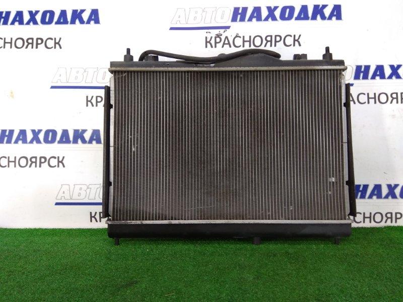 Радиатор двигателя Nissan Bluebird Sylphy KG11 MR20DE 2005 в сборе, с диффузором и вентилятором,
