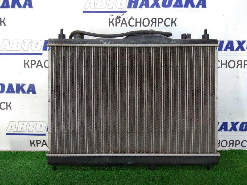 Радиатор двигателя Nissan Bluebird Sylphy KG11 MR20DE 2005 в сборе, с диффузором, вентилятором и