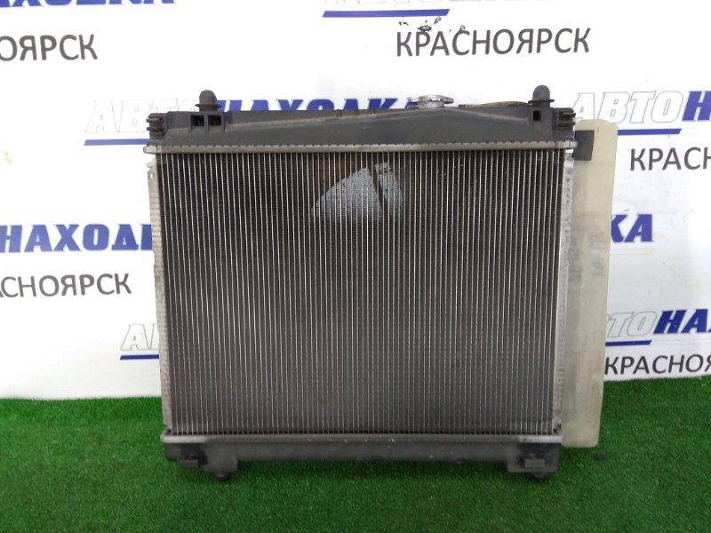 Радиатор двигателя Toyota Belta KSP92 1KR-FE 2005 в сборе, с дифузором, вентилятором и расш.
