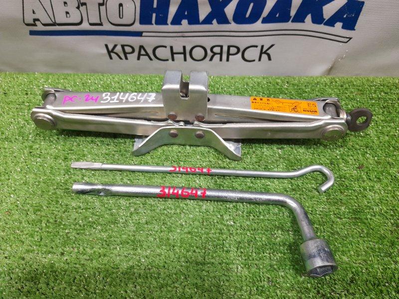 Домкрат Nissan Serena PC24 SR20DE 1999 Грузоподъемность 1050 кг с ручкой, ключом на 21