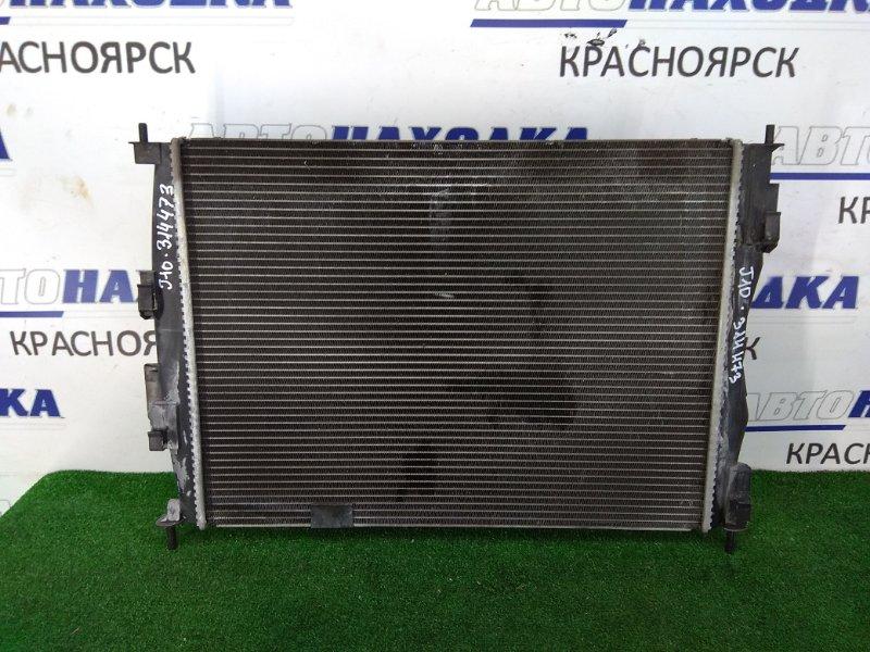 Радиатор двигателя Nissan Qashqai J10 MR20DE 2007 в сборе, с диффузором и вентилятором, пробег 89