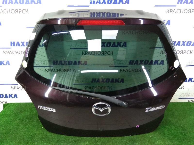 Дверь задняя Mazda Demio DE3FS ZJ-VE 2007 задняя задняя в сборе, фиолетовая (28W), маленькие