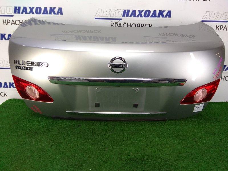 Крышка багажника Nissan Bluebird Sylphy KG11 MR20DE 2005 задняя в целом ХТС, серая (KY0), с фонарями