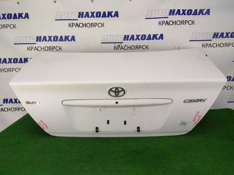 Крышка багажника Toyota Camry ACV30 2AZ-FE 2001 задняя ХТС, белый (040), под полировку