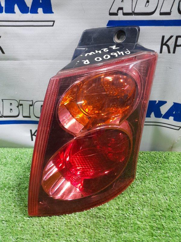 Фонарь задний Mitsubishi Colt Plus Z24W 4A91 2004 задний правый P4600 правый, красное стекло, P4600,