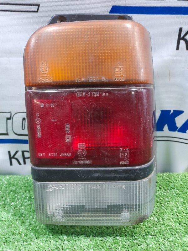 Фонарь задний Subaru Rex KG1 EK23 1986 задний правый 1721 правый, 1721, трещина по стеклу