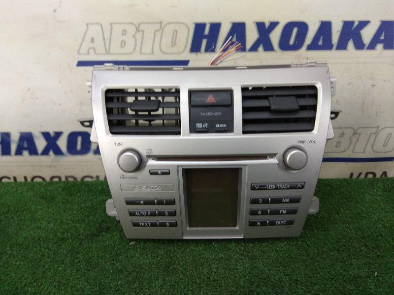 Магнитола Toyota Belta KSP92 1KR-FE 2005 штатная магнитола TOYOTA 86120-52640, с консолью, с