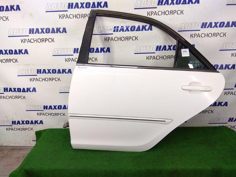 Дверь Toyota Camry ACV30 2AZ-FE 2001 задняя левая ХТС, задняя левая, в сборе, белая (040), под
