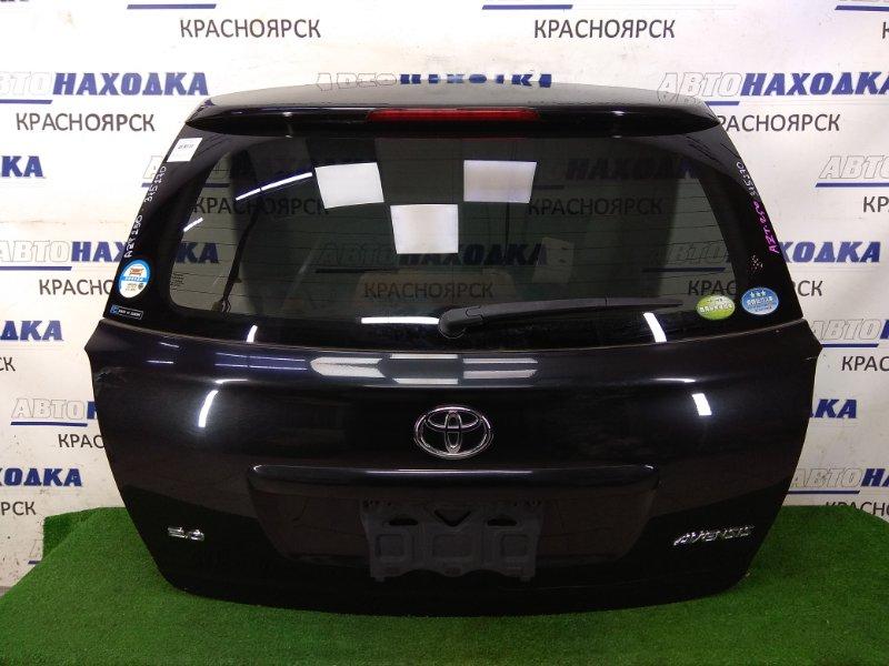 Дверь задняя Toyota Avensis AZT250W 1AZ-FSE 2003 задняя в сборе, черная (209), камера З/Х, спойлер