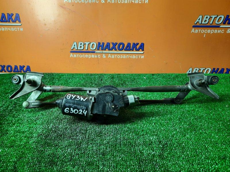 Мотор дворников Mazda Atenza Sport GY3W L3-VE передний 849200-2402 С ТРАПЕЦИЕЙ.