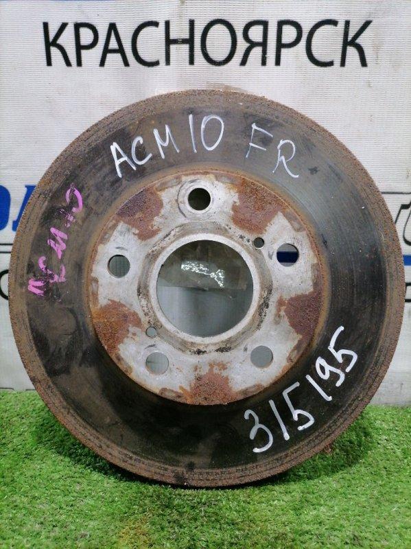 Диск тормозной Toyota Gaia ACM10G 1AZ-FSE 2001 передний передний, диаметр 275 мм, в ХТС.
