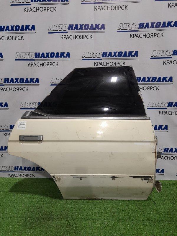 Дверь Toyota Mark Ii GX71 1G-EU 1984 задняя правая задняя правая, белая, безстоечная, под покраску