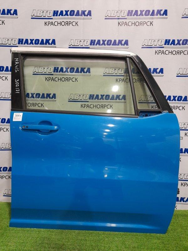 Дверь Suzuki Hustler MR41S R06A 2014 передняя правая передняя, правая, в сборе, голубая,