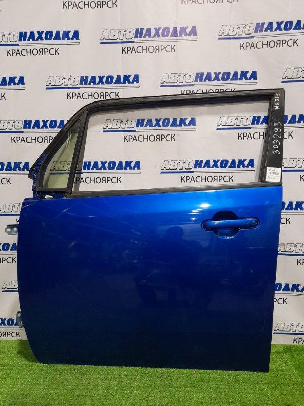 Дверь Nissan Moco MG33S R06A 2011 передняя левая передняя, левая, в сборе, синяя, потёртости, под