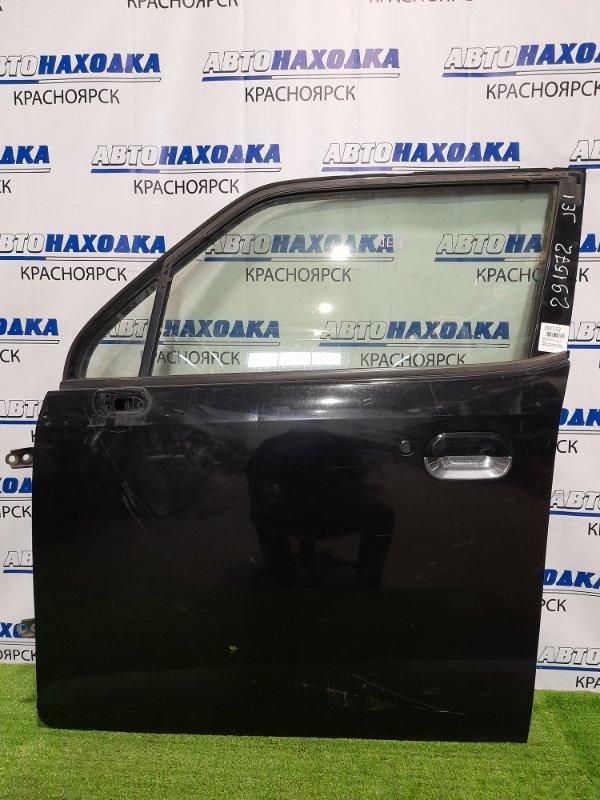 Дверь Honda Zest JE1 P07A 2006 передняя левая передняя, левая, чёрная, в сборе, царапины,