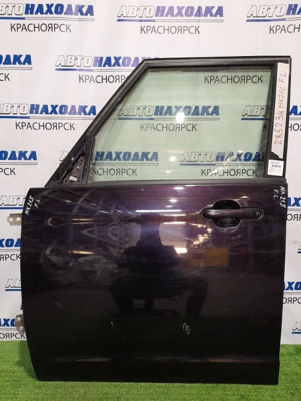 Дверь Suzuki Palette MK21S K6A 2008 передняя левая передняя, левая, в сборе, фиолетовая, потёртости,