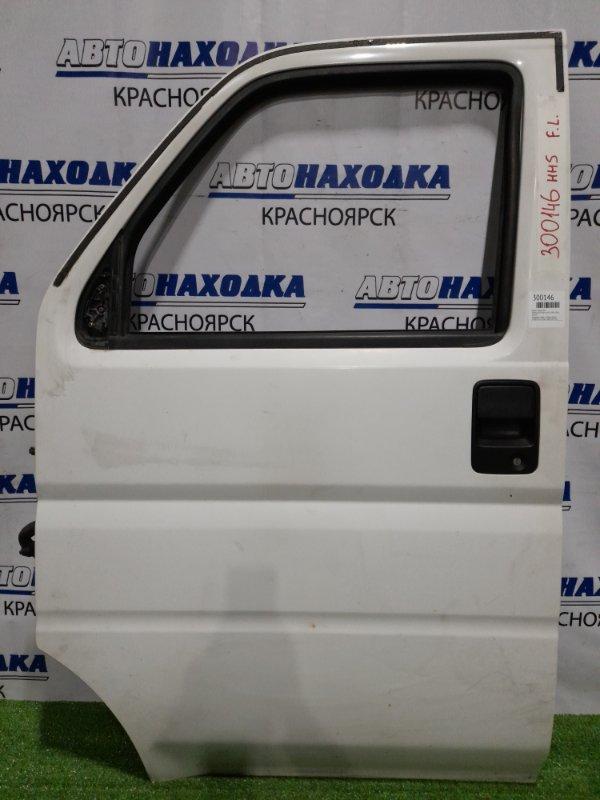Дверь Honda Acty HH5 E07A 1999 передняя левая передняя, левая, в сборе, белая, потёртости, следы