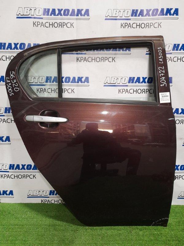 Дверь Daihatsu Mira E:s LA300S KF 2011 задняя правая задняя, правая, в сборе, коричневая, подмят