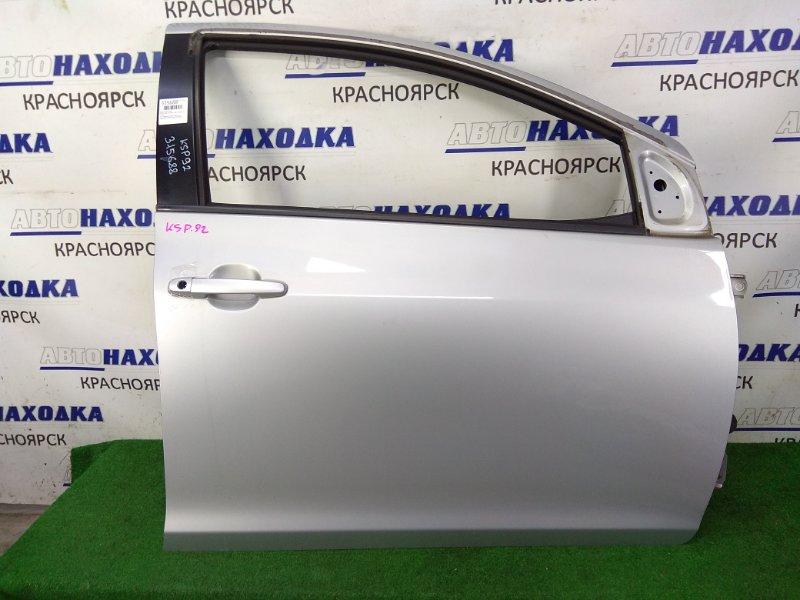 Дверь Toyota Belta KSP92 1KR-FE 2005 передняя правая ХТС, передняя правая, серая (1E7), в сборе, без