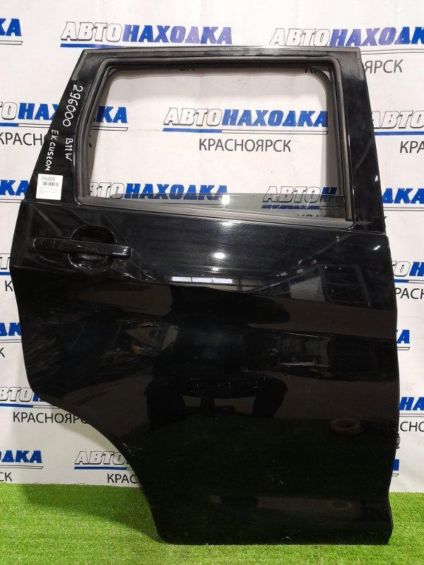 Дверь Mitsubishi Ek Custom B11W 3B20 2013 задняя правая задняя, правая, в сборе, чёрная, царапинки