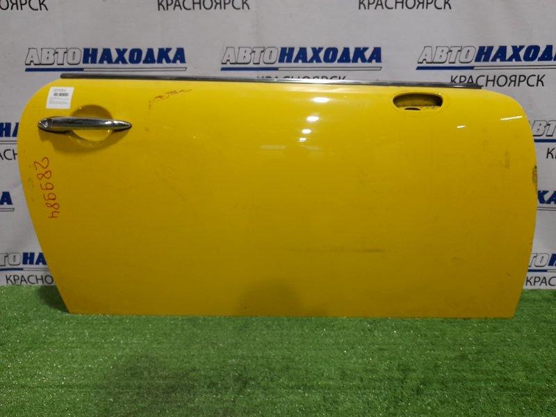 Дверь Mini Cooper R50 W10B16A 2001 передняя правая правая, жёлтая, без стекла, без ст. подъёмника,
