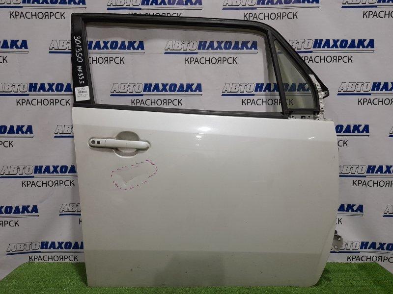 Дверь Suzuki Mr Wagon MF33S R06A 2011 передняя правая передняя, правая, в сборе, белый перламутр,