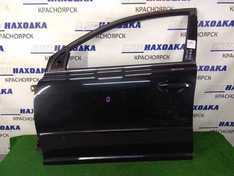 Дверь Toyota Avensis AZT250W 1AZ-FSE 2003 передняя левая передняя левая, черная (209), без стекла,