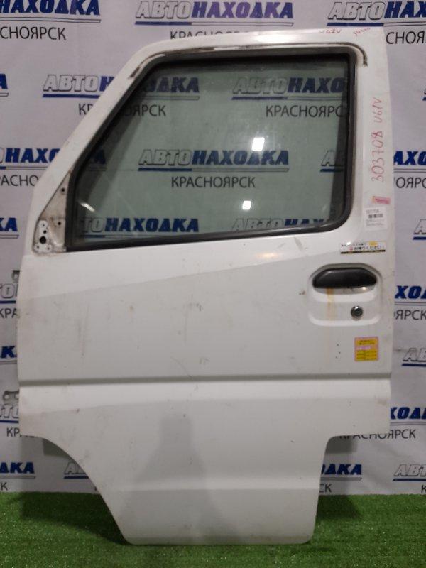 Дверь Mitsubishi Minicab U61V 3G83 1999 передняя левая передняя, левая, в сборе, белая, царапины,