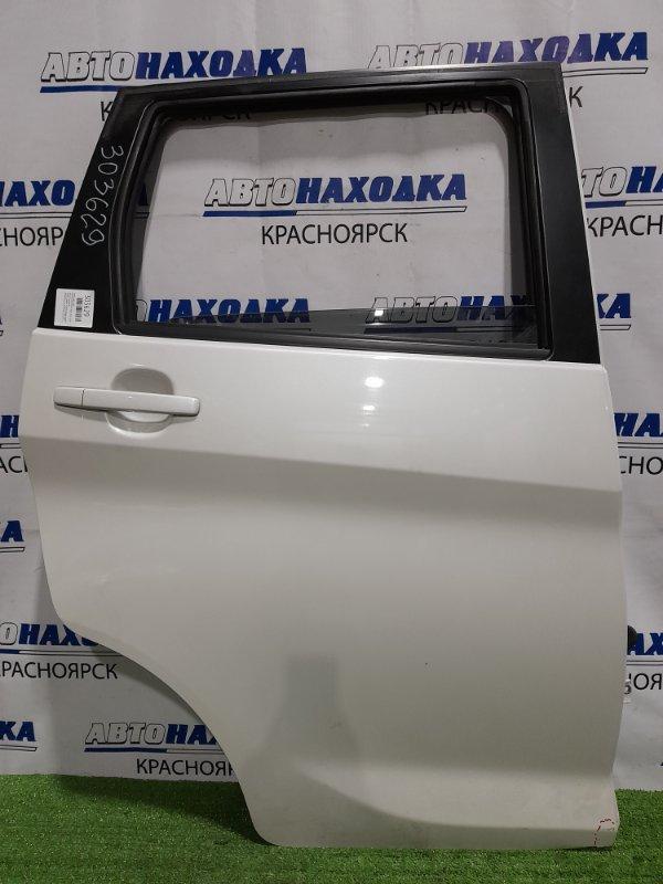 Дверь Nissan Dayz B21W 3B20 2013 задняя правая задняя, правая, в сборе, белая, подмят нижний угол,